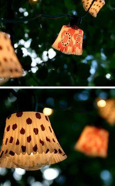 DIY Cupcake Lights   Click Pic for 24 DIY Garden Lighting Ideas   DIY Outdoor Lighting Ideas