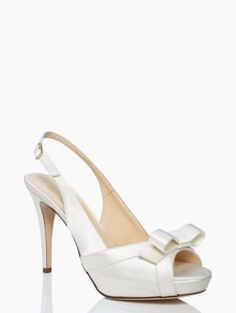 grano heels | Kate Spade New York. They don't have them in my size, and I'd probably fall and break bones, but pretty!