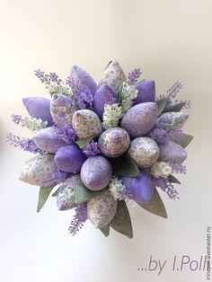 """Купить Тюлпаны """"Нежность Прованса -2"""" - букет, букет тюльпанов, тюльпаны из ткани, тюльпаны"""