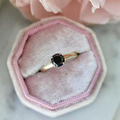 Wallflower Round Cut Black Diamond Ring Sapphire Diamond, Blue Sapphire, Diamond Rings, Diamond Engagement Rings, Round Cut Diamond, Black Diamond, Right Hand Rings, Alternative Engagement Rings, Conte