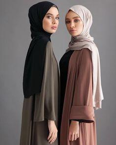 Alnuqi - Hand Made Custom design Abaya , Hijab and Dresses Islamic Fashion, Muslim Fashion, Modest Fashion, Fashion Outfits, 80s Fashion, Hijab Outfit, Hijab Dress, Kimono Abaya, Hijab Pins