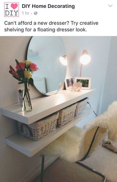 I like the width of the shelf. It's not too thick so the mirror is close to the face. I think one shelf like this is enough for the vanity area.