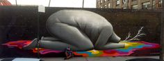 Urban Art meets Pop-surrealism might be a possible approach to characterize the work of Oscar San Miguel Erice, also known by his artist name Okuda. Get to know a big talent from Madrid…    http://www.urban-art-attack.com/okuda-urban-art-from-madrid/