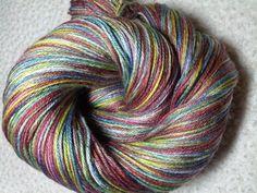 Fox Fur Nebula in Kaylee sock yarn, 50/50 merino-silk