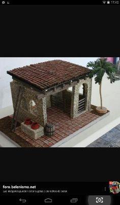 Portal ladrillos Christmas Manger, Xmas, Paper Toys, Stables, Diy Flowers, Bird Feeders, Cribs, Gazebo, House Plans