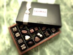 A gift from my father's 'Asset Manager Tapis Field' #Chocolates #Dark #Brown #White