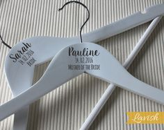 Style No.4 Custom engraved Bridal Party Coat Hangers wedding favour