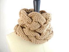 PDF Knitting PATTERN Loose Braids Chunky Cowl / by tortillagirl