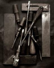 Memoria Screwdrivers - Black and White Still Life Photography, Fine Art Photography, Portrait Photography, Art Reference, Art Gallery, Black And White, Black White, Art Photography, Art Museum