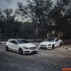 "drivingbenzes: ""Mercedes-Benz A 45 AMG & SL 63 AMG """