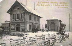 BARCELONA , ANTIGUA...     tibidabo nevada del 15 de gener 1914..