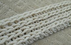 Crochet stitch (half double crochet in the third loop) that looks like knit.