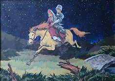 chechen art: Faruk kutlu Kafkas resimleri