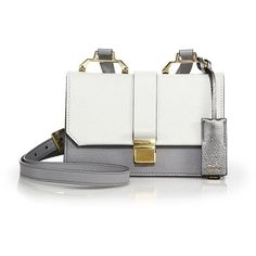 Miu Miu Madras Small Leather Crossbody ($1,670) ❤ liked on Polyvore featuring bags, handbags, shoulder bags, apparel & accessories, crossbody purse, leather shoulder handbags, leather crossbody, white shoulder bag and genuine leather handbags