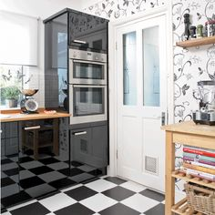 Wipeable wallpaper can be such a fun addition to a kitchen! I think this is an especially great solution if you don't love your kitchen, but...