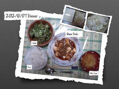 For Dinner on 07/Oct/2012