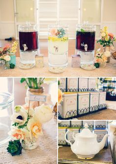 Vintage Floral High Tea Bridal Shower // Hostess with the Mostess®