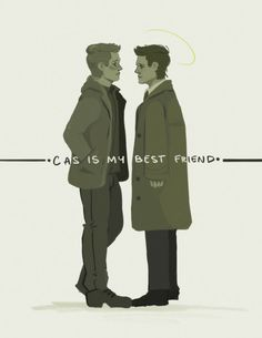 """Dean Winchester is saved. "" #spn #destiel and more than that i mean you don't stand that close to your friend"
