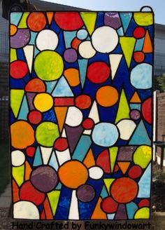 Art Deco Circles Static Window Cling