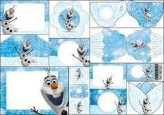 Olaf: Invitaciones para Imprimir Gratis.