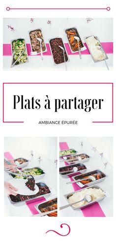 Buffet - épuré - rose - carotte - légumes - traiteur - chef à domicile - plats à partager - Paris