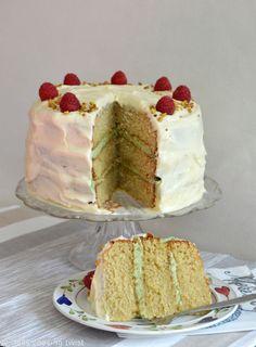 Matcha Vanilla Layer Cake | Del's cooking twist