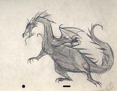 Sleeping Beauty Dragon Animation Sketch