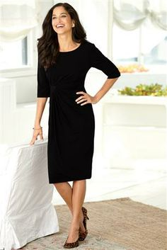 Connected-Apparel-Side-Ruched-Dress