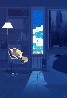 Midnight reading. by PascalCampion