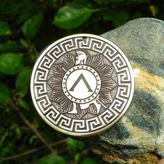Greek Hero Achilles Strength and invincibility talisman. Greek Symbol Tattoo, Symbol Tattoos, Tatto Sleeve, Spartan Tattoo, Greek Mythology Tattoos, Greek Memes, Greek Pattern, Discreet Tattoos, Wiccan Jewelry