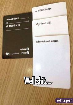 No robaras, cards against humanity funny, funny period jokes, period humor, lmfao All Meme, Stupid Funny Memes, Funny Relatable Memes, Funny Posts, The Funny, Funny Quotes, Hilarious, Funny Stuff, Random Stuff