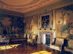 Hawkridge Hall (inspired by Ham House) -- The Queen's Bedchamber, the fancy bedroom where Tris sometimes sleeps.