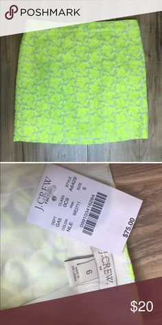J. Crew factory NEW neon yellow skirt size 6 New with tags! Comes from smoke free, pet friendly home. J. Crew Factory Skirts Mini