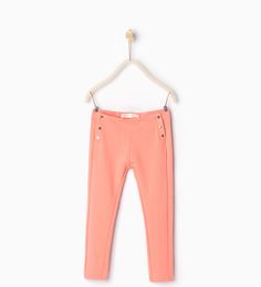 Buttoned trousers-LEGGINGS AND TROUSERS-GIRL   4-14 years-KIDS   ZARA United States