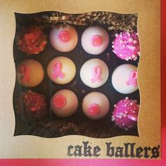 cake ballers cake balls!Breast Cancer Awareness month kicks off with a ball! It's awareness you can really sink your teeth intohurry and get your dozen today! limited supply. Flavors are Party, Triple Chocolate and Strawberry. Email info@cakeballers.com to get yours! Want a delivery? Let us know!www.cakeballers.com #thecakeballers #cakeballers #cakeballer #savethetatas #weloveboobies #thinkpink #cakeballsforthecure #boobies #tatas #eatmorecakeballs #boiseidaho #streng
