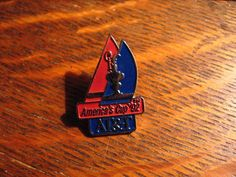 America's Cup Lapel Pin - Vintage 1992 AT&T Yacht Sailing San Diego USA Sail Pin