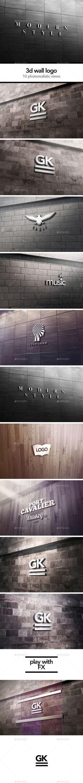 3D Logo Signage Wall MockUp #design Download: http://graphicriver.net/item/3d-logo-signage-wall-mock-up/12656394?ref=ksioks