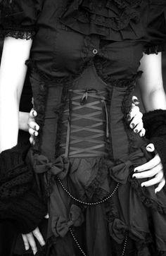 corset, dress, black....BEAUTIFUL