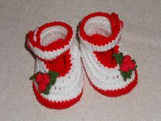 scarpette natalizie bimba di zucchero lana su dawandacom