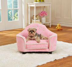 Süßes Hundesofa - Hundebett Princess mit Aufbewahrungstasche und waschbarem Kissenbezug für erholsamen, zugfreien Schlaf - Holzrahmenkonstruktion 64 cm breit: Amazon.de: Pet Supplies