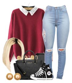 """""""March 2k15 5pm"""" by jilwayne ❤ liked on Polyvore featuring Forever 21, MICHAEL Michael Kors, Converse and Chanel"""