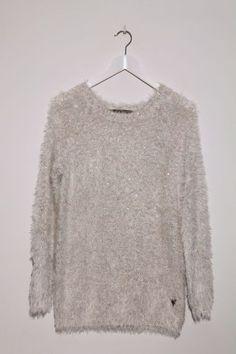 Jersey Valentine blanco - Compra online Laorange: Tienda online de ropa y moda para mujer San Sebastián/Donostia