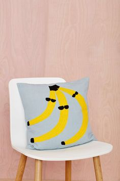 Aelfie Go Bananas Pillow #pillow #banana #homedecor