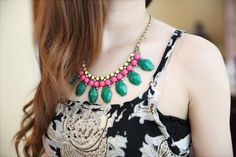 New Arrive Women Fashion Trends Multicolor Thin Crystal Collar Bib Necklace | eBay