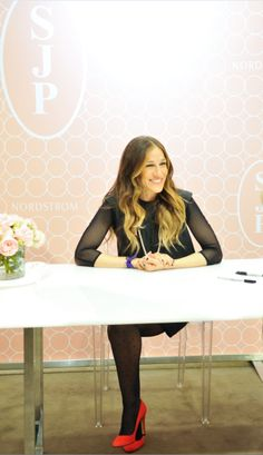 """SJP wore 'Lady' to her event at the Seattle flagship store."" she's the best!"