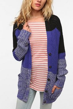 BDG Chunky Shaker Stitch Cardigan  I love you Urban Outfitters
