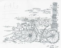 For the branding of the Malta National Book Festival 2014 I  (Moira Zahara) worked with my friend Ruth Ancilleri around the idea of a bicycle carrying a stack of books.