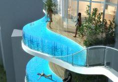 The Aquaria Grande's Luxury Balcony pools - Mumbai India