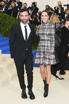 Nicolas Ghesquière and Jennifer Connelly, both dressed in Louis Vuitton.