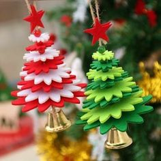 Wholesale Christmas Decorations Christmas Tree Pendant DIY Bell Christmas Decoration Props Bell Door Hanging Children's Gifts from Our website with high quality and fast shipping worldwide. Felt Christmas Ornaments, Christmas Crafts For Kids, Christmas Bells, Homemade Christmas, Christmas Projects, Holiday Crafts, Christmas Diy, Childrens Christmas, Christmas Door Hangings